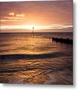 Dawn By The Sea Metal Print