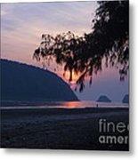Dawn By The Sea Metal Print
