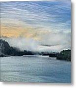 Dawn Fog On Klamath River Metal Print
