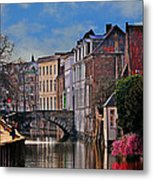 Dawn In Bruges Metal Print