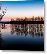 Dawn In The Flood Metal Print