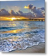 Dawn Lace Metal Print