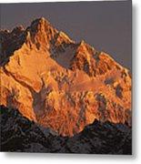 Dawn On Kangchenjunga Talung Metal Print