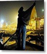 Dawn On The Ganges Metal Print