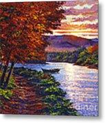Dawn On The River Metal Print by David Lloyd Glover
