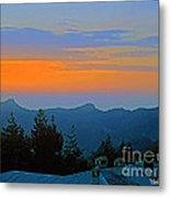 Dawn Over Cross Forest Metal Print