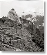 Dawn Over Machu Picchu Metal Print