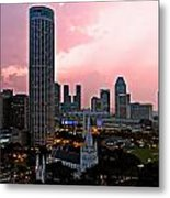 Dawn Over Singapore Metal Print