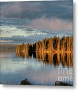 Dawn Reflections On Pelican Bay Metal Print