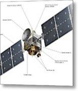 Dawn Spacecraft Metal Print