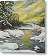 Dawning Of A Winter Day Metal Print