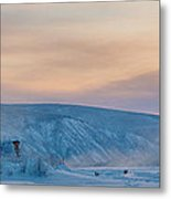 Dawson City Ice Bridge Metal Print by Priska Wettstein