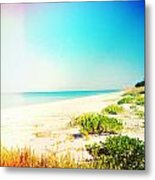 Day At The Beach Photography Light Leaks Metal Print