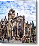 Day At The High Kirk Metal Print