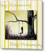 Day Dreaming In Yellow By Shawna Erback Metal Print by Shawna Erback