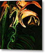 Day Lily At Night Metal Print