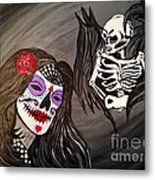 Day Of The Dead Good Vs Evil Metal Print