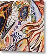 Day Of The Dead Horse Metal Print