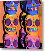 Day Of The Dead Ink Metal Print