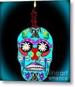 Day Of The Dead Sugar Skull Metal Print