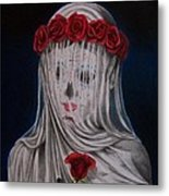 Day Of The Dead Veiled Bride Metal Print