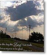 Day The Lord Made Psalm 118 Metal Print