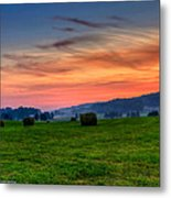 Daybreak On The Farm Metal Print by Paul Herrmann