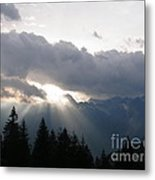 Daybreak Over Lepontine Alps Metal Print