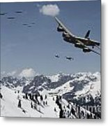 Daylight Raid Metal Print