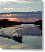 Day's End On The Sebec River Metal Print