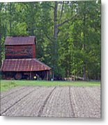 Days Gone By--tobacco Barn Series  Metal Print