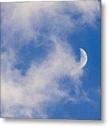 Daytime Moon Metal Print