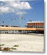 Daytona Beach Pier Pano Metal Print
