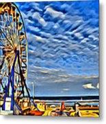 Daytona Ferris Wheel Metal Print