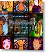 Dazzle Neck Art Collection Metal Print