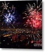 Dazzling Fireworks II Metal Print