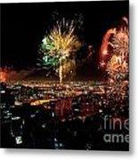 Dazzling Fireworks Iv Metal Print