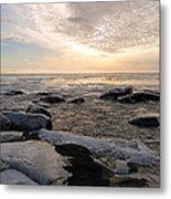 Dazzling Winter On Lake Superior Metal Print