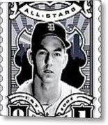 Dcla Al Kaline Detroit All-stars Finest Stamp Art Metal Print by David Cook Los Angeles