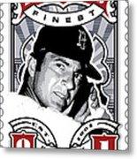 Dcla Carl Yastrzemski Fenway's Finest Stamp Art Metal Print by David Cook Los Angeles