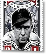 Dcla Tris Speaker Fenway's Finest Stamp Art Metal Print