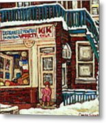 De Bullion Street Depanneur Kik Cola Montreal Streetscenes Metal Print