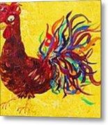 De Colores Rooster Metal Print