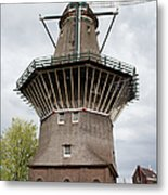 De Gooyer Windmill In Amsterdam Metal Print