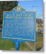 De-kc81 Site Of Duck Creek Presbyterian Church Metal Print