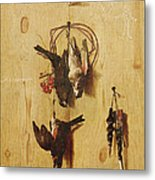 Dead Birds Oil On Canvas Metal Print