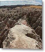 Dead End Trail In Badland National Park South Dakota Metal Print