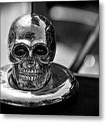 Dead Head Hood Ornament Metal Print