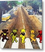 Dead On Abbey Road Metal Print by Jen Santa