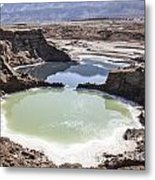 Dead Sea Sinkholes  Metal Print